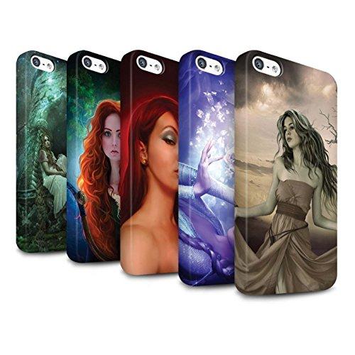 Officiel Elena Dudina Coque / Clipser Matte Etui pour Apple iPhone 5/5S / Princesse Design / Caractère Conte Fées Collection Pack 5pcs