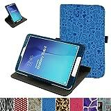 Samsung Galaxy Tab E 9.6 Drehbares hülle,Mama Mouth 360°ROTATION Drehbares Standfunktion hülle mit Schöne Muster für 9.6' Samsung Galaxy Tab E 9.6 T560 T561 Android Tablet-PC,Blau
