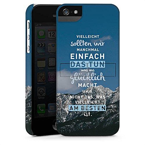 Apple iPhone 6 Hülle Silikon Case Schutz Cover Sprüche Glücklich Statement Premium Case StandUp