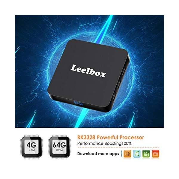 Leelbox-TV-Box-Android-904GB64GBQ4-PLUS-Botier-TV-Quad-Core-64-bit-Android-Box-Wi-Fi-integratoBT-41-Box-TV-UHD-4K-TVUSB-30-Media-Player-Android-Set-top-Box-2019-Dernire-Version
