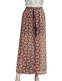 Primavera Verano Elegantes Moda Mujer Pantalones De Tiempo Libre Estampadas  Flor Abiertas Niñas Ropa Elastische Taille ba4c48ccab6e