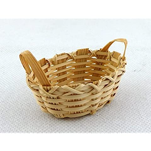 Casa Delle Bambole Miniatura Negozio Negozio Cucina Bucato Accessori 2 Handled Basket