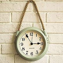 Reloj de pared decorado forja 8 pulgadas cáñamo cuerda silenciosa sala modernos ...