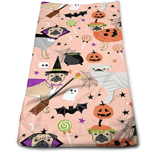 Kostüm Dino Hunde - Wodann Mops Halloween-Kostüm - süße Hunde in Kostümen - Pfirsich Handtücher Geschirrtuch Floral Leinen Handtücher Super weich 11,8