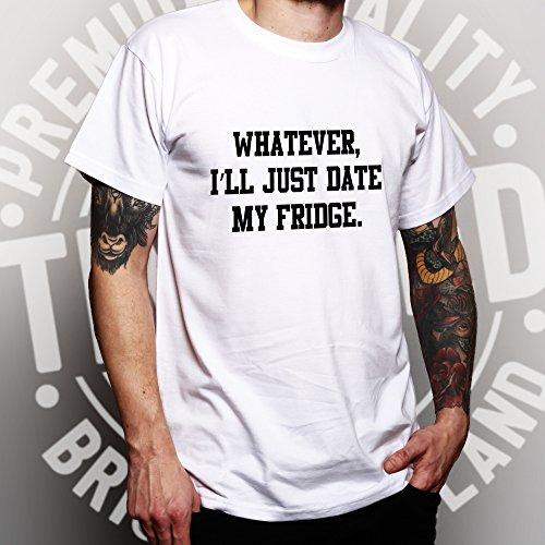 Wie auch immer, ich werde Datum Just My Fridge Lustige Slogan Coole Dating Herren T-Shirt Yellow