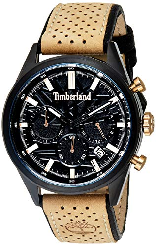 Timberland Reloj Cronógrafo para Hombre de Cuarzo con Correa en Cuero TBL.15476JSB/02