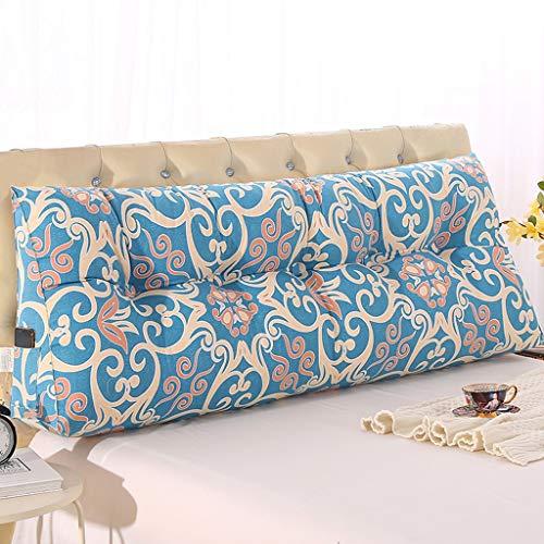 World Dreieck Kissen große lumbale Kissen Taille Schutz Sofa Canvas Soft Cover Nachttisch Tatami gepolsterte Pads abnehmbar, 10 Farben, Multi Größen (Farbe : D, größe : 150 * 50) -