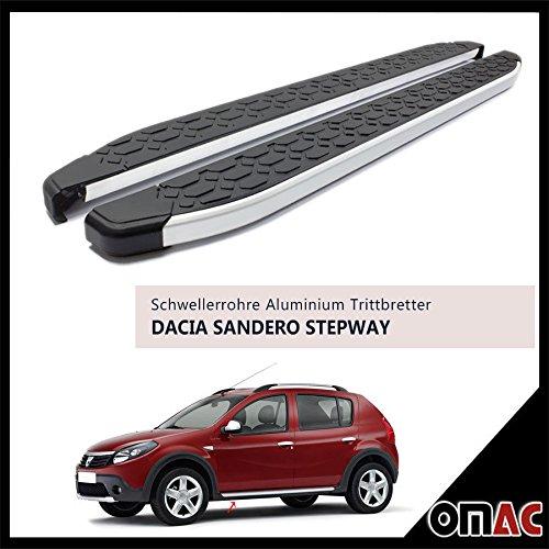schweller tubi Pedane in Alluminio per Dacia Sandero Stepway 2009> Blackline (183)