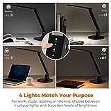 TaoTronics Desk Lamp, LED Desk Lamp with USB Charging Port( 4 Lighting Mode with 5 Brightness Levels, Timer, Memory Function) Black Bild 1