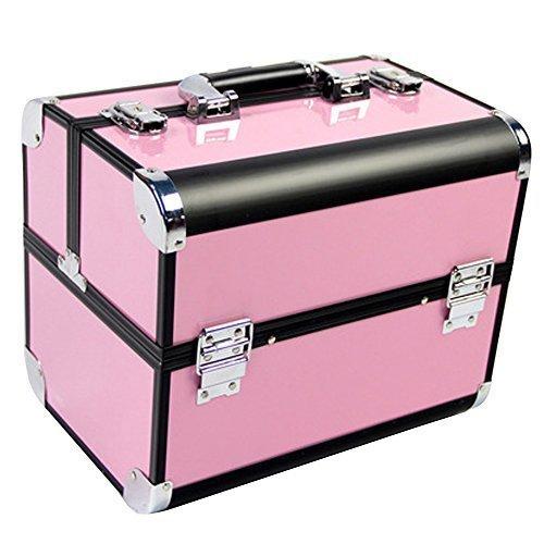 Contever® Professionnel Beauté Boite et Maquillage et Cosmétique en Alu Vanity Case Salon - Rosa 3