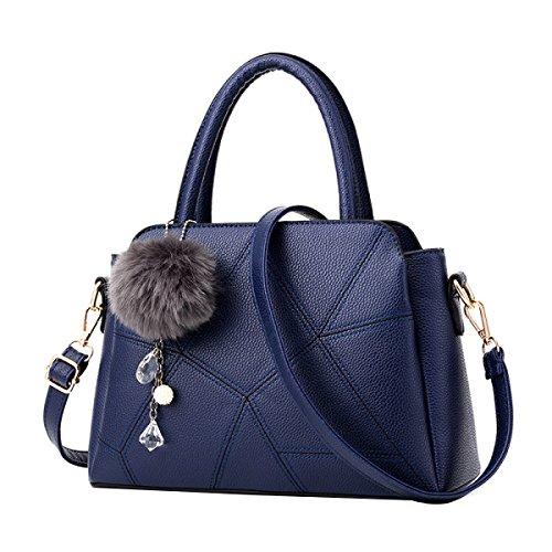MeiZiWang PU-Leder-Handtasche Frau Tragbaren MeiZiWang Blue