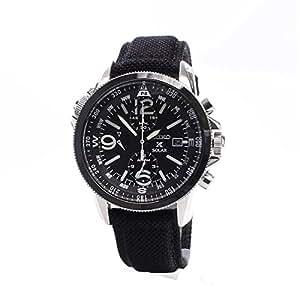 seiko montre homme chronographe automatique avec bracelet en tissu ssc293p2 montres. Black Bedroom Furniture Sets. Home Design Ideas