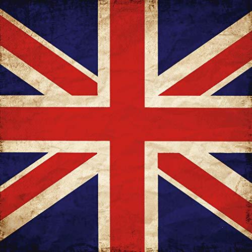 Artland Qualitätsbilder I Wandtattoo Wandsticker Wandaufkleber 70x70 cm Statement Bilder Zeichen Digitale Kunst Rot E3VN Vereinigtes Königreich Flagge England Irland Schottland