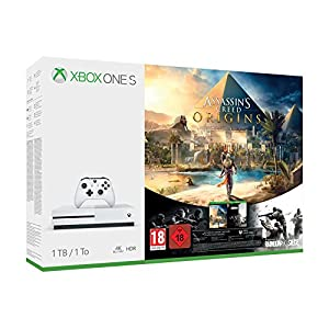 Xbox One S 1TB Konsole – Assassin's Creed Origins Bonus Bundle inkl. Tom Clancy's Rainbow Six: Siege Spiele-Download
