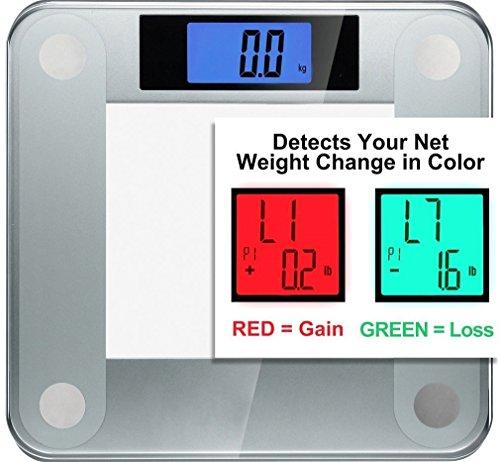 Ozeri Balance numérique de précision pour salle de bain avec technologie de détection de changement de poids 200kg