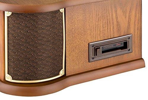 Roadstar HIF-1899 Retro Stereo-Anlage mit Plattenspieler, Kassette, CD-Player und Radio - 5