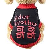 SOMESUN Haustier Hunde Bekleidung Mini Hündchen Welpe Winter Warme Süß Halloween Schädel Drucken Hundemantel Sweater Gemütlich Weich Elastisch Hundejacke Shirt