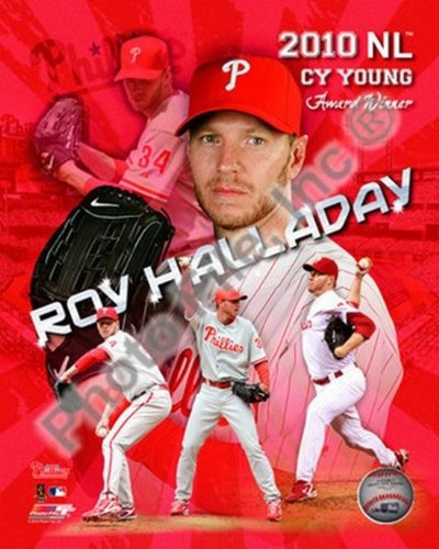 The Poster Corp Roy Halladay 2010 National League Cy Young Award Winner Portrait Plus Photo Print (40,64 x 50,80 cm) (Young Cy Award)