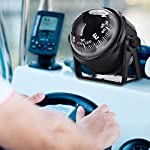 Dilwe Boat Compass, Black Electronic Adjustable Compass for Boat Night Vision 14