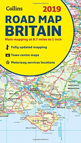 2019 Collins Map of Britain (Collins Maps) - New Map England Road
