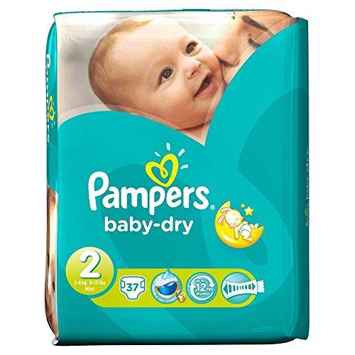 Preisvergleich Produktbild Pampers Baby Dry Size 2 Mini 3-6kg (37) - Packung mit 2
