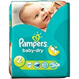 Pampers Baby Dry Taille 2 Mini 3-6kg (37) - Paquet de 6