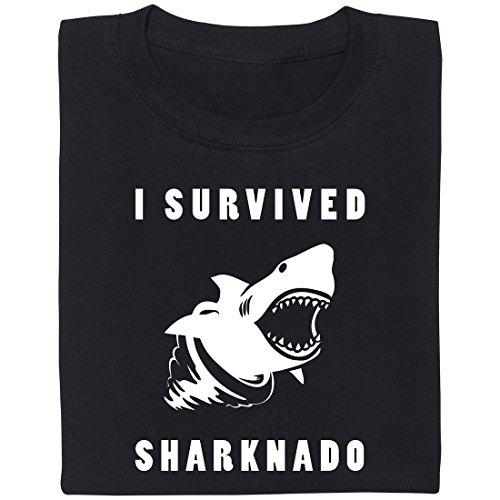 Sharknado - Geek Shirt für Computerfreaks aus fair gehandelter Bio-Baumwolle, Größe L