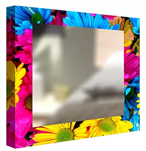 CCRETROILUMINADOS Kretroiluminos Margariten Spiegel dekorativ Hintergrundbeleuchtung, Methacrylat, Mehrfarbig, 80 x 80 cm