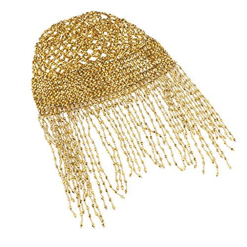 Kopfbedeckung Cleopatra Kostüm - P Prettyia Cleopatra Kopfschmuck Ägypterin Haarschmuck Damen Kostüm Karneval Fasching Halloween - Hell Gold