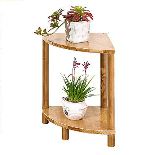 LJHA Combinaison de support de fleur de balcon en forme d'éventail Pots de plancher de salon à plusieurs étages en bois massif Étagère de fleur de bambou simple (taille facultative) Des stands ( taille : 50 cm )