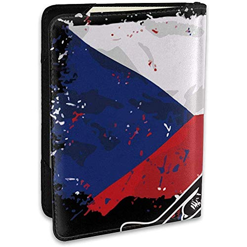 Hockey Czech Flag Personalisierte Mode Leder Passinhabers Covers Case Reisebrieftasche