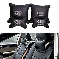YYD Car Neck Pillow Pillow for Car Seat Headrest Cushion Car Neck Cushion(2*Neck Pillow,2*Pillow),Audi