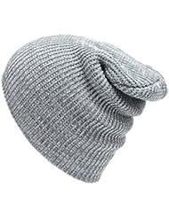 Tongshi Unisex de la manera del casquillo del invierno caliente del tocado de punto de ganchillo sombrero del esquí trenzado turbante