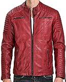Red Bridge Jacke Herren Biker Kunst- Lederjacke R-41451W Redbridge (XXL, Khaki)