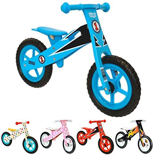 boppi® Wooden Balance Bike – Blue Racer