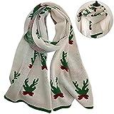 Zoylink Womens Weihnachtsschal Schal Geweih Muster Winter Warmer Schal