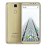 Cubot X18 Smartphone 5.7 Zoll Android 7.0 4G LTE Handy Dual micro SIM ohne Vertrag 16MP + 13MP Kamera 3GB RAM 32GB ROM MTK6737T Quad Core 3200mAh Fingerabdrucksensor WiFi GPS, Gold