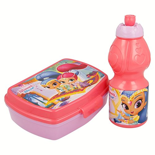 Disney Frozen-Set Trinkflasche Sport und Sandwichmaker in Shimmer and Shine 'Palace', (Stor st-22276)