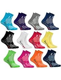 Rainbow Socks - Calcetines de Deporte para NIÑOS - Algodón Transpirable - para Correr, Bicicleta y Otros DEPORTES – Atractivas Colores | para Niñas y Niños - Tallas: EU 24-29 y 30-35, Made in EUROPA