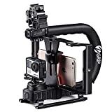 Zeadio 2-in-1-Multifunktionale Triple Blitzschuh Handheld Stabilisator mit zeadio Smartphone Video Rig