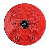 CamKpell Praktische Haushalts Twist Waist Torsion Disc Board Magnet Aerobic Fußübung Yoga Training Gesundheit Twist Waist Board - Rot