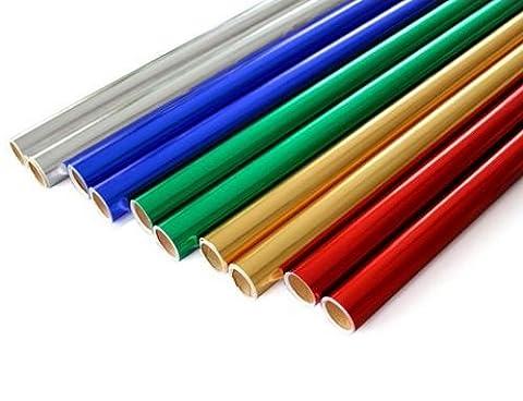 5 x METALLIC / SHINY / FOIL 60gsm PAPER ROLLS