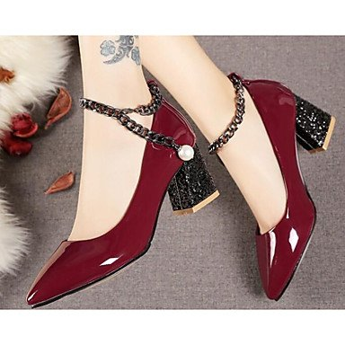 Sanmulyh Femmes Chaussures Pu Printemps Été Confort Talons Pour Bourgogne Casual Bleu Foncé Bourgogne Rouge