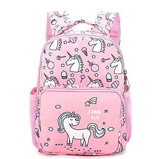 zhongjiany Kindergarten Unicorn Girls Niños Mochilas Escolares Mochilas para Libros 2-5 años