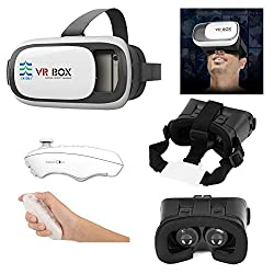 US1984 Newest 3D Vr Box, With Bluetooth Controller, Virtual Reality Headset Version 2.0 . 3D Glasses Adjust Cardboard Vr Box For 3.5 to 6.0 Mobiles
