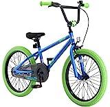 BIKESTAR Bicicletta Bambini 6-7 Anni da 20 Pollici | Bici per Bambino et Bambina BMX con Freno a retropedale et Freno a Mano | Blu & Verde