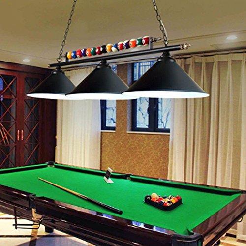 Billard-licht (Leuchter Tischleuchte LED personalisierte Eisen Snooker Lampen Café Restaurant Beleuchtung Billard Lichter Haus Dekoration A+ (Farbe : Schwarz))