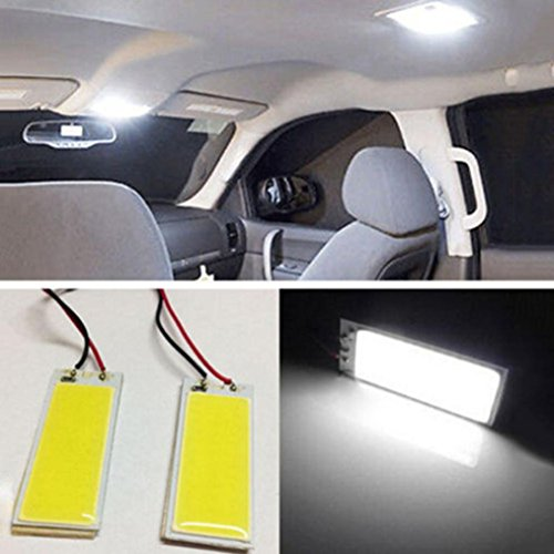 Preisvergleich Produktbild Ansenesna 2pcs Hohe Qualität Xenon HID White 36 COB LED Dome Map Light Bulb Car Interior Panel Lamp 12V
