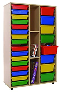 Mobeduc 600313HP14 Shelving Storage and 2 Bays with Trays, 90 x 147 x 40 cm, Lavander Blue (B07346VF6F) | Amazon price tracker / tracking, Amazon price history charts, Amazon price watches, Amazon price drop alerts