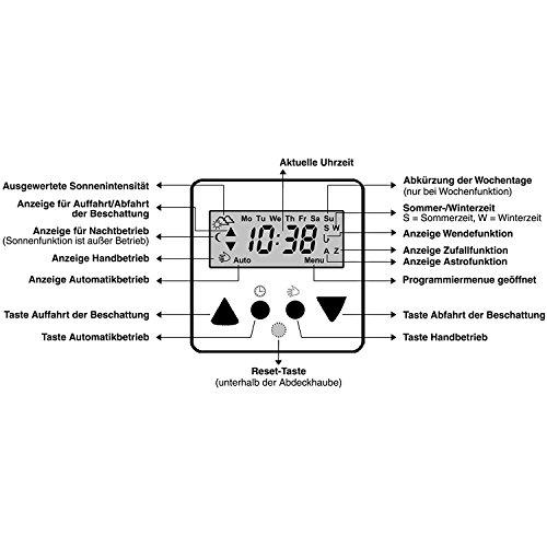 Rolladen Zeitschaltuhr mit Astrofunktion Vestamatic Time Control weiß - 5